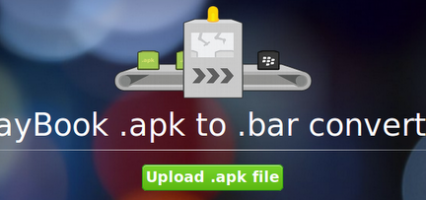 How to covert an android apk to a BlackBerry 10 or Playbook app in 10 seconds!