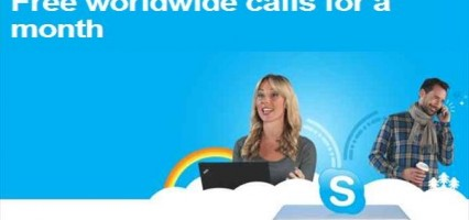 Get Free Unlimited Worldwide Phone Calls via Skype For an Entire Month