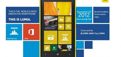 NOKIA To Launch Lumia 920 and 820 On Nov 20th in Nigeria.