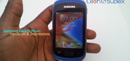 Hands on pictures and Impressions with the Samsung Galaxy Music