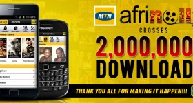 Afrinolly crosses 2 million downloads, says thank you.