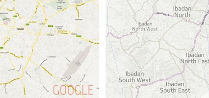 Mapping The New IBADAN Crescent: Google Maps vs Nokia Maps