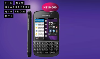 BlackBerry Q10 from MTN