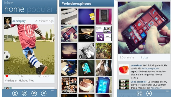 Itsdagram Finall Screens