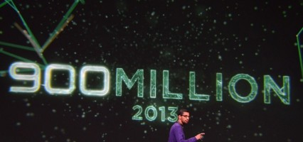Google's activated 900 million android devices so far, and crossed the 48 billionth app download