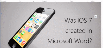 Did Apple design iOs 7 and the iPhone 5s on Microsoft Word? (Video)