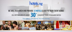 HotelsNg launches new service that provides hotels for events.