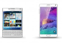 Samsung Galaxy Note 4 and BlackBerry Passport