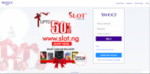 SLOT takes over Yahoo Mail landing page.