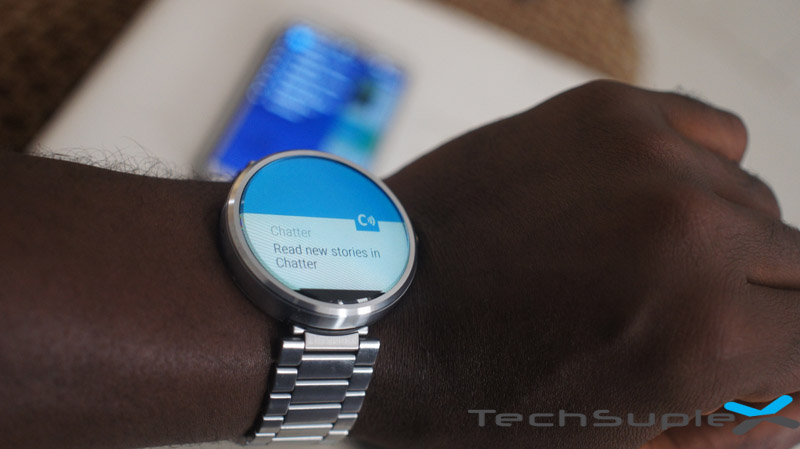 Chatter on Moto 360