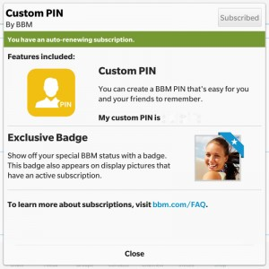 You can now choose your BBM pin, remove ads and more with the new BBM Update