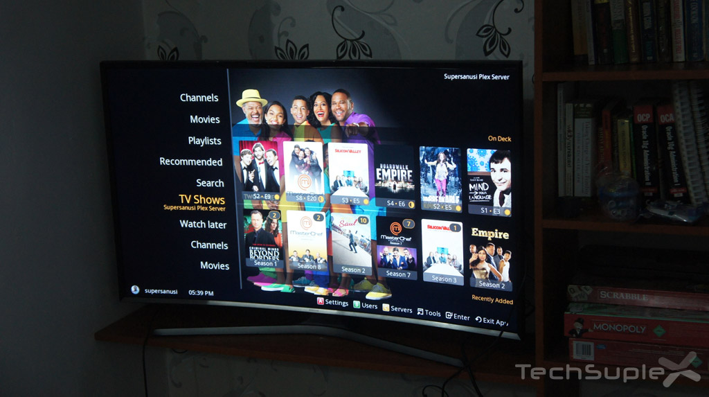 Plex for Samsung Tv UI
