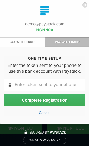 paystack pay with bank